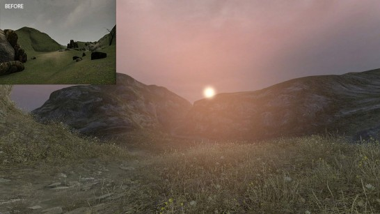 Dear Esther before and after